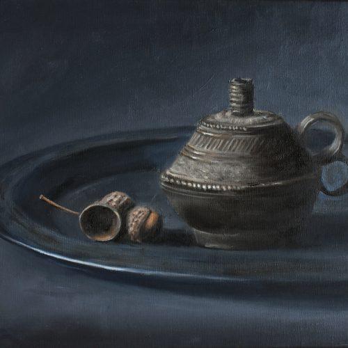238. Acorns with Lamp